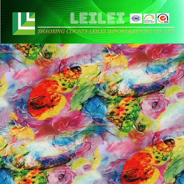 Flowers Digital Printed Model Cotton Jersey Fabric