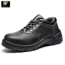 Low price security cheap cow leather shoes industrial stylish work safety shoes