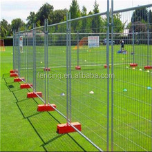 Rubber base coated white welded mesh temporary pet fence panel