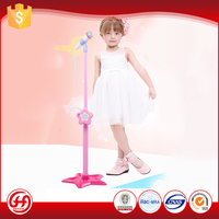 Battery-operated connect MP3 /Phone adjustable toy microphone for kids