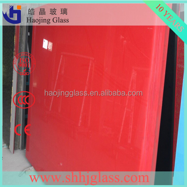haojing glass factory supply machine painted coated glass price
