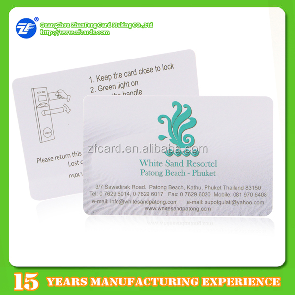 Custom printing dual frequency pvc rfid chip card