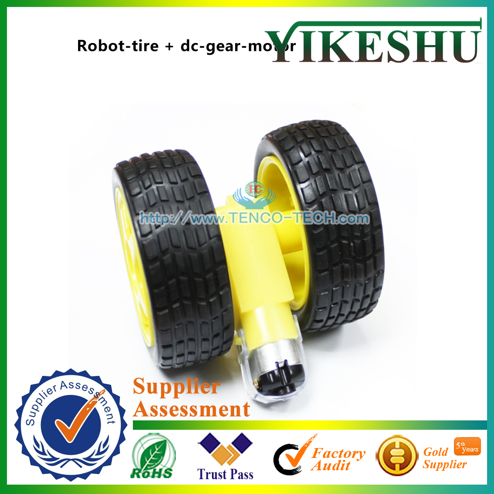 smart car robot plastic tire wheel DC gear motor 3v 6v