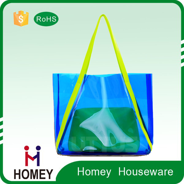 Fashion Clear PVC Transparent Tote Shopping Bag for Gift