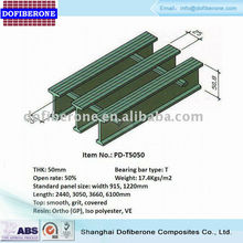 frp grp fiberglass pultrusion grating I-bar 38mm 60% open rate