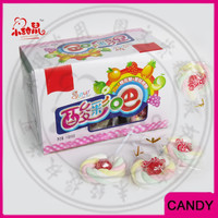 Halal Fruit Flavor Marshmallow Lollipop Candy