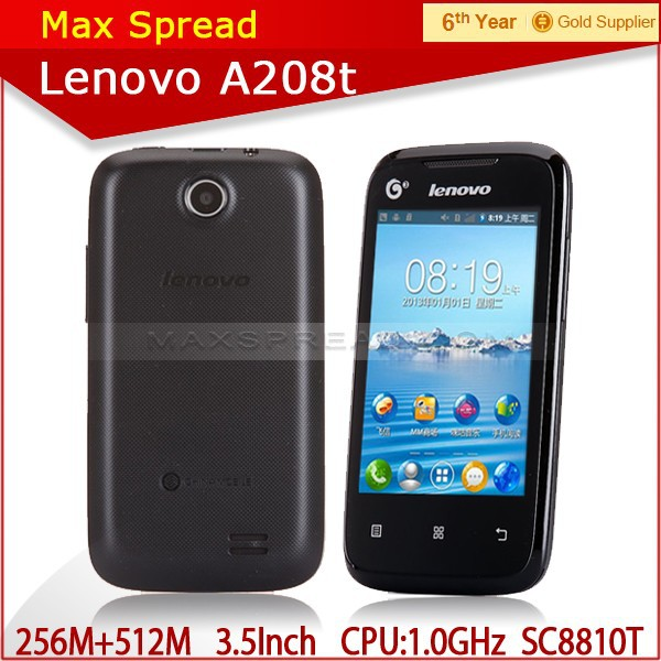 original Lenovo A208T android2.3 SC8810T 1.0GHZ smart phone