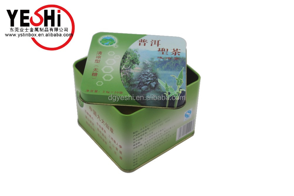 Metal personalized tea bag packing box for red tea storage red tea tin box