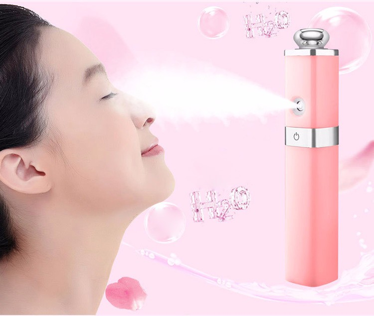 2017 trending product moisturizing mist spray lipstick shape power bank 2600mah gifts for your face