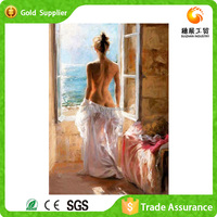 Home Decoration Customized Crystal Crafts Nude Girl Photo Abstract Painting Of Women