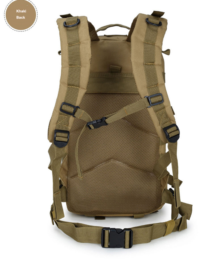 3P Assault Military Tactical Molle Bag Men Outdoor Sports Hiking Camping Backpack 35L