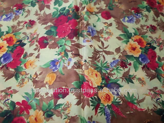 Digital printed silk fabric