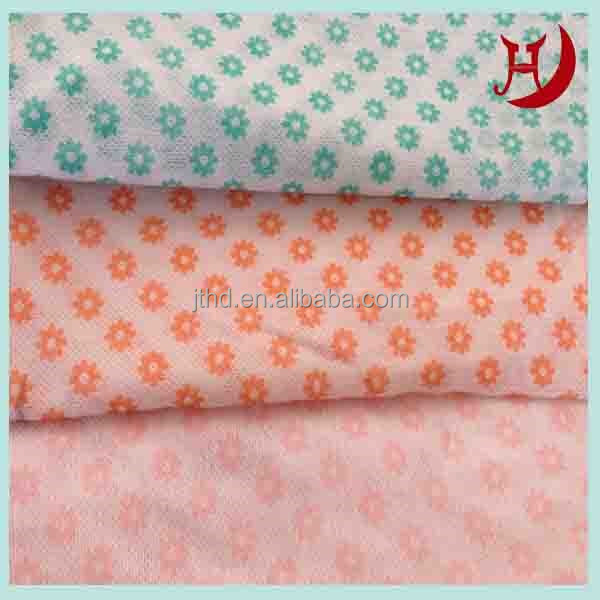 Nonwoven Wave Lines Printed Mesh Wash Cloths