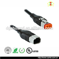 Deutsch Dt 2 Pin Connector Plug Pigtail Male And Female Clip Connector wire cable assembly