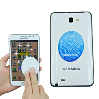 custom round microfiber mobile phone screen sticky wipe