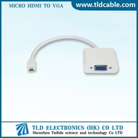 Micro HDMI to VGA Female Video Cable - Support HD 1080p