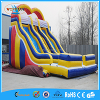 Newest design commercial outdoor giant inflatable slide, inflatable stair slide toys for kids