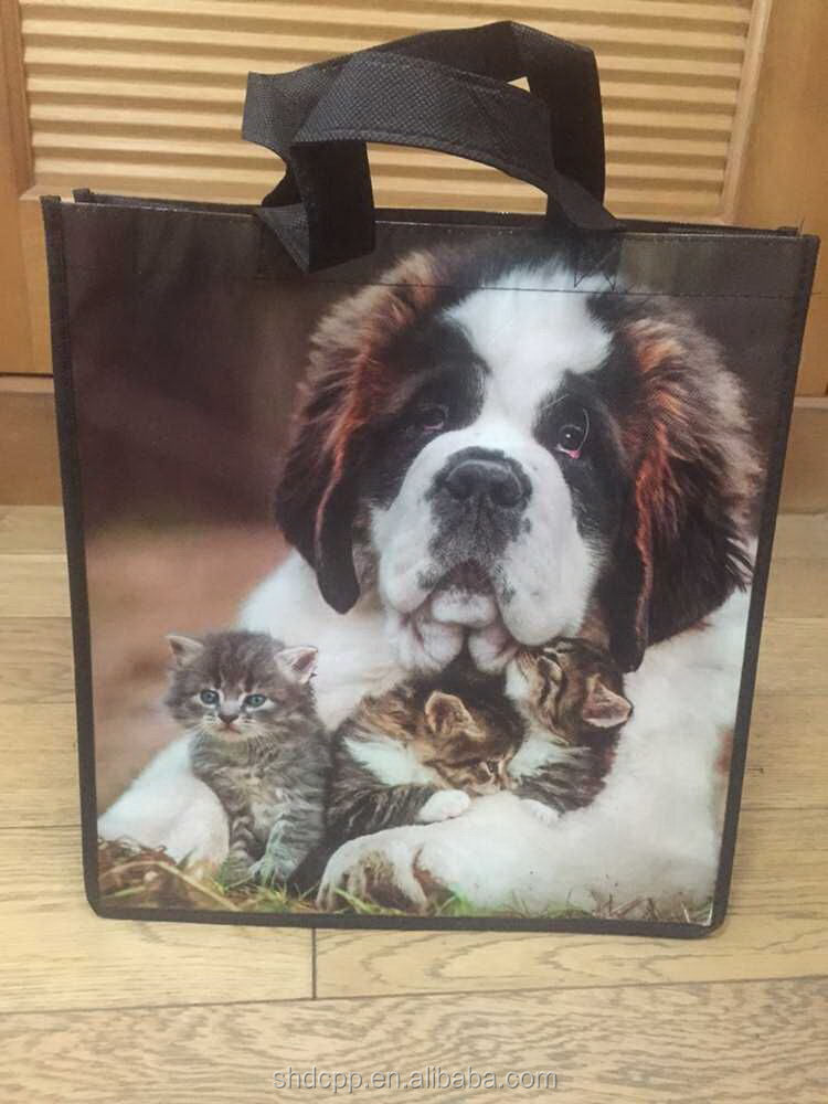 factory price hot-selling cute reusable dog shopping bag