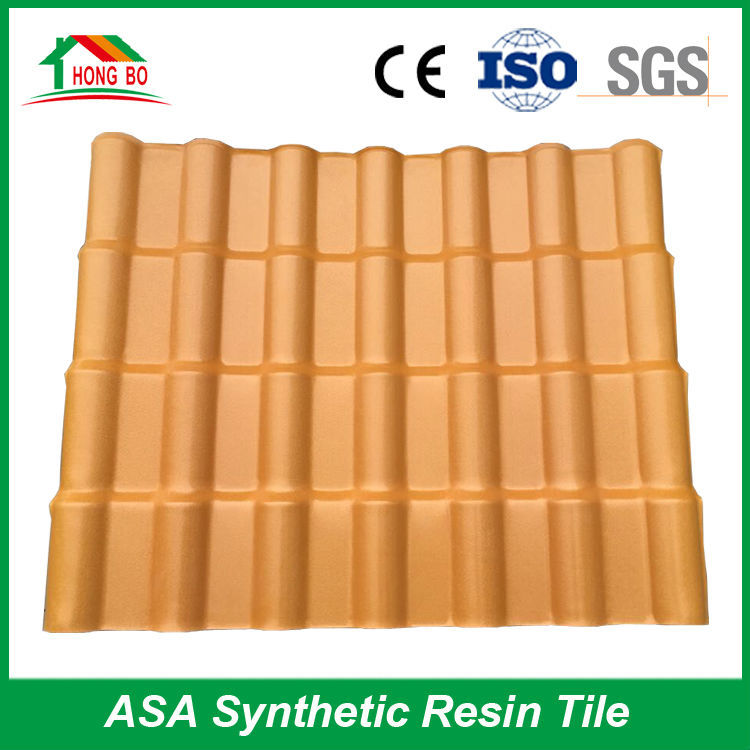 Spanish Style ASA Synthetic Resin Roof Tile