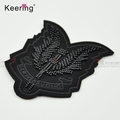 New arrival Black color Rock BADGE patch with beads embroidered WEFC-029