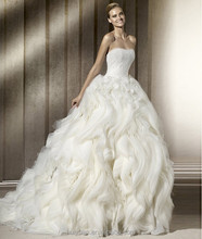 beaded sleeveless ball gown 2012 arabic sexy wedding dresses