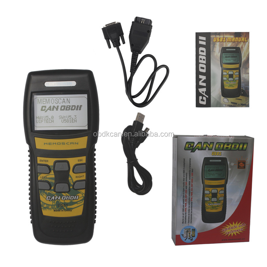 Newest Version Original Memoscan U581 Diagnostic Tool CAN OBDII/EOBDII Memo Scanner Factory Sales
