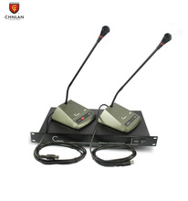 Professional hand in hand table chairman and delegate Microphone Audio Conference Room Sound System