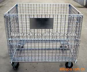 collapsible storage metal cage