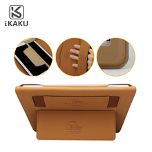 2017 KAKU kid proof rugged smooth cell laptop genuine leather tablet case for 10 inch /7 inch/8 inch tablet with handle