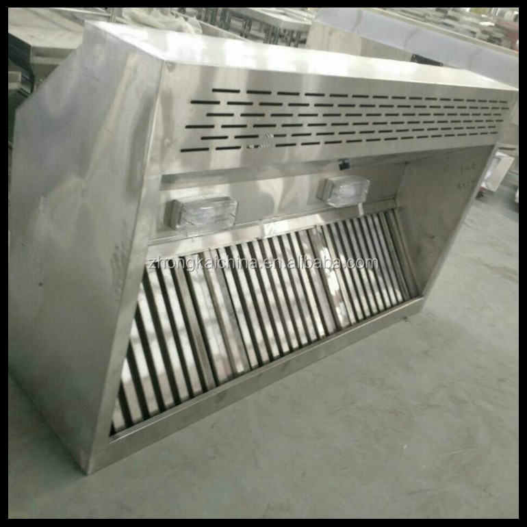 Stainless Steel professional factory chinese kitchen exhaust range hood / Stainless steel Commerical Exhaust Range hood