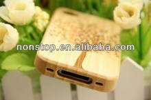 Genuine Natural Bamboo Wooden Wood Carving Tree Case Cover for Apple iPhone 4 4S