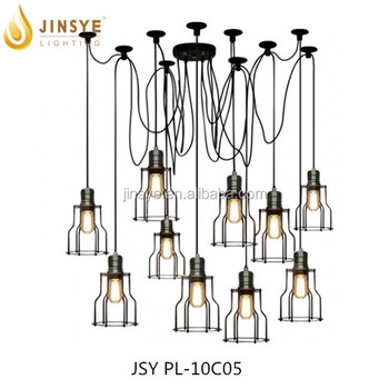 DIY Pendant Chandelier Light 6 Bulbs Pendant Lighting Vintage