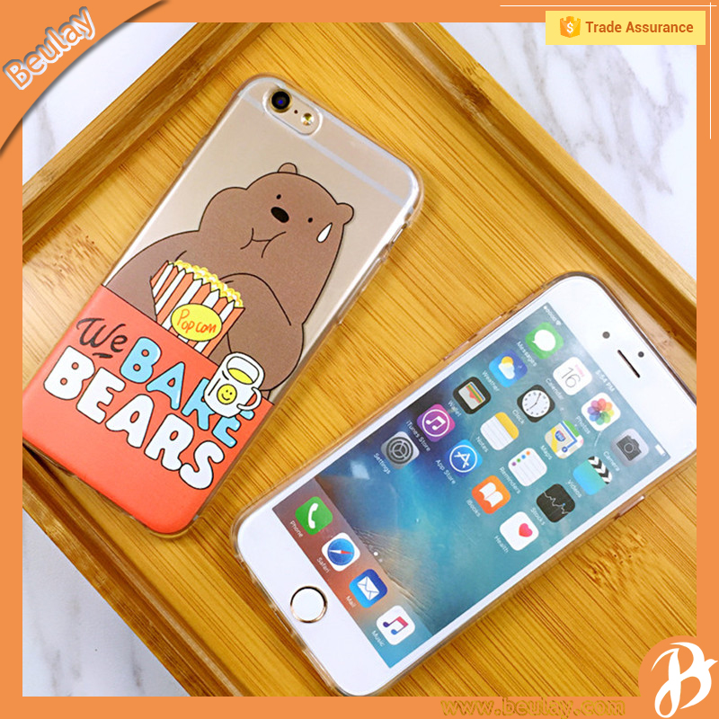 2016 Hot Cartoon Brown Bear Mobile Phone Cover Case For Iphone7