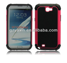 Hybrid Case for Galaxy Note 2 N7100,anti-shock case for samsung galaxy note 2