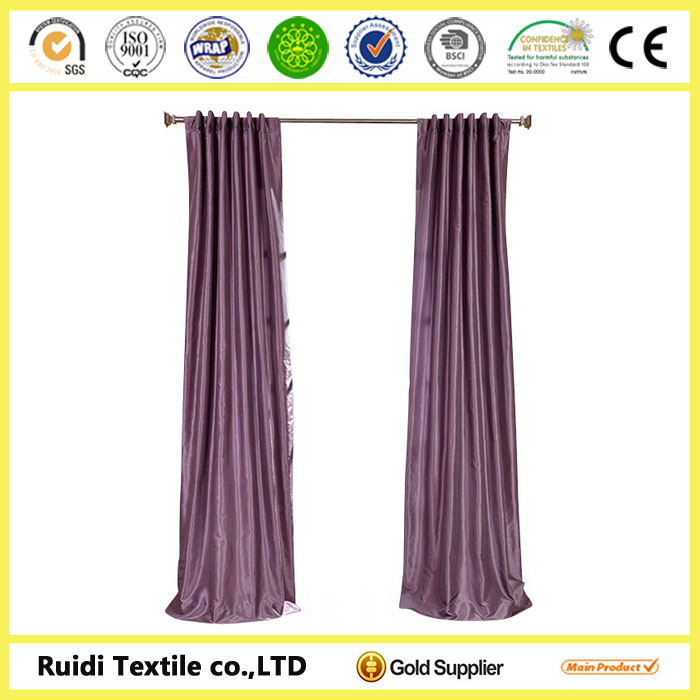 2014 modern design 100% polyester hotel luxury curtains for rooms