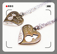 2015 design gold heart necklace