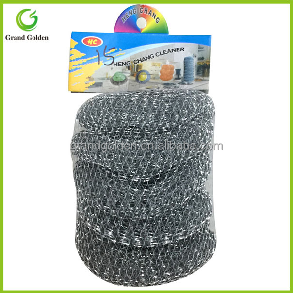 5PCS Net Bag Packing Galvanize Wire Mesh Pot Scourer
