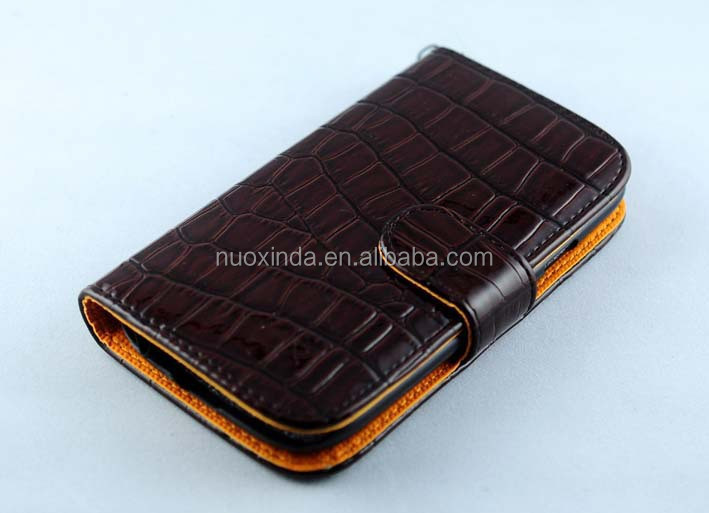 high class crocodile PU leather material waterproof case for samsung galaxy S4 mini