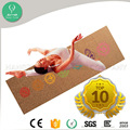 High quality body fitness yoga mat cork yoga rubber material yoga mat
