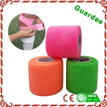 Factory Veterinary Self Sticky Colorful Cohesive Elastic Bandage