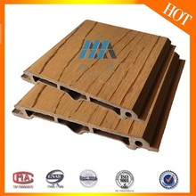 Wood Grain Hollow WPC Plastic Panel Exterior Decoration PVC Plastic Composites Wall Board
