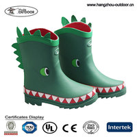 Boys Cute 3D Rubber Rain Boots With Frog