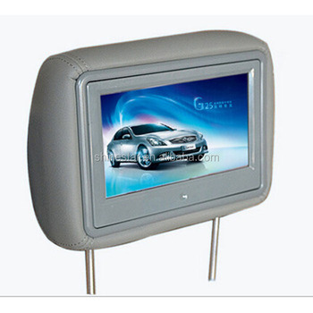 small size 9'' inch LCD taxi headrest advertising monitor