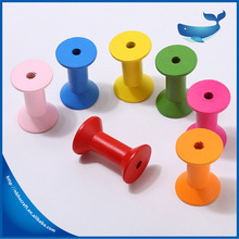 New design cheap small painted colorful wooden spool for twine and thread