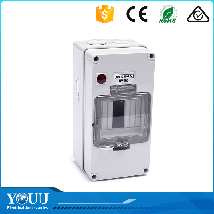 YOUU Manufacture 4/8Way Switchgear Cover Assemblies Waterproof Plastic Distribution Enclosure Box With/Without Light Indicator