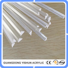 clear acrylic triangle rod/clear plexiglass triangle rod/clear perspex triangle rod