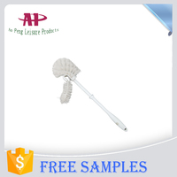 Disposable Curved Toilet Brush with Long Plastic Handle