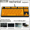 yellow color Cherry MX switch mechanical keyboard with usb port