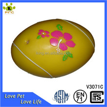 Squeaky flower bread shape vinyl food pet toy from chinese manufacturers