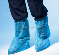 PE Plastic Shoe Cover/Disposable Boots Cover/outdoor rain overshoe